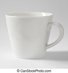Tea Cup in White, isolated