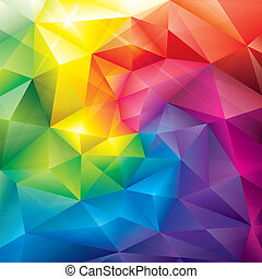 Colors Background - Abstract polygonal gems colors...