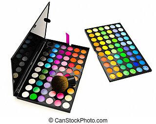 multicolore, oeil, ombres, Produits de Beauté, brosse