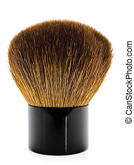 powder brush - single powder brush against the white...
