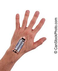 Robot - Insert the battery in an arm - Robot - Insert the...