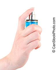 perfumery - woman sprinkle perfume