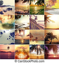 Beach collage - Beach background