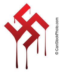 Melting Swastika - The Nazi swastika melting away set...