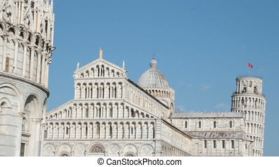 Miracles square in Pisa - Piazza dei miracoli in Pisa, Italy...
