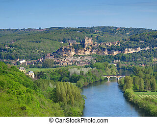 Dordogne River - View on beautiful Dordogne river since...