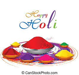 Beautiful gulal colorful holi with festival celebration...