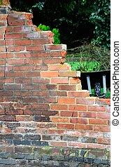 brick wall broken
