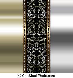 prata, Ouro, fundo, Retângulo, blocos, texturas,...