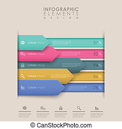 abstract bar chart infographics - colorful bar chart vector...