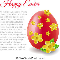 card with Easter egg