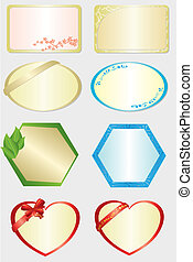 set of  8 vector color cards