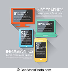 abstract device infographics - modern vector abstract...