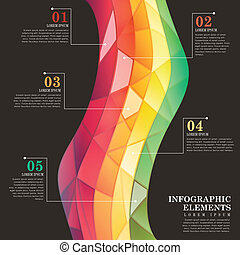 abstract colorful tile infographics - modern vector abstract...