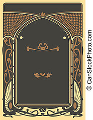 Art Nouveau Backgrounds and Frame
