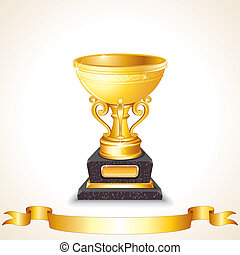 Golden Cup Vector