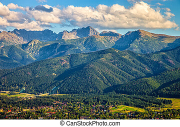 Scenic view from Gubalowka - View from Gubalowka on the most...