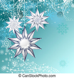 Blue christmas decorative background