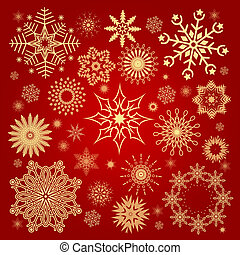 Collection Christmas snowflakes illustration