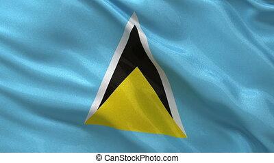 Flag of Saint Lucia seamless loop