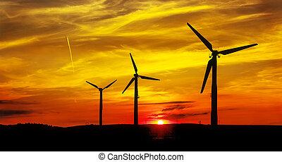 Wind power landscape