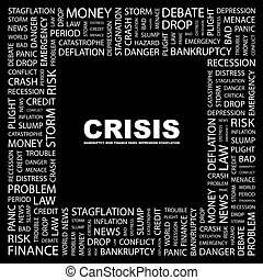 CRISIS Background concept wordcloud illustration Print...