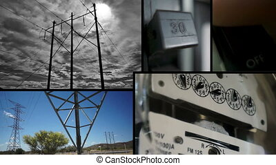 Electrical Energy Collage - Collage of different videos with...