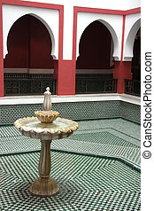 Moroccan fountain - Traditional Moroccan fountain