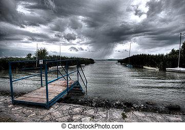 Balaton - HDR landscape of lake Balaton