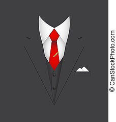 business suit concept - business suit leader person poster...
