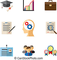Business career colored icons for presentations and...