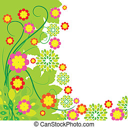 Springtime greeting card flower background