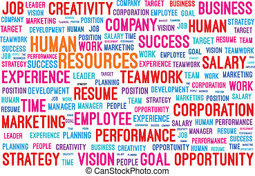 Human Resources Word Cloud Vector Illustration