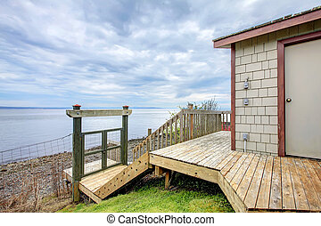 Waterfront beach boat house storage shed - Waterfront beach...