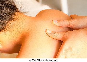 reflexology shoulder massage, spa the shoulder...