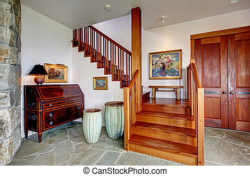 Entrance foyer with staircase