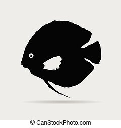 discus fish vector illustration