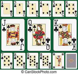 Club suit large index - Playing cards, club suit, joker and...