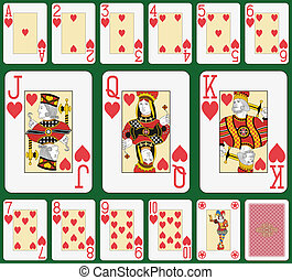 Heart BlackJack suit large figures - Playing cards, heart...