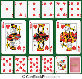 Heart suit large figures - Playing cards, heart suit, joker...