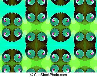 Seamless pattern with spiral