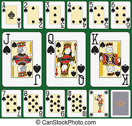 Spade blackjack suit large figures - Playing cards, spade...