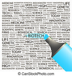 BIOTECH Concept illustration Graphic tag collection...