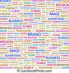 BRAND Word cloud concept illustration Wordcloud collage