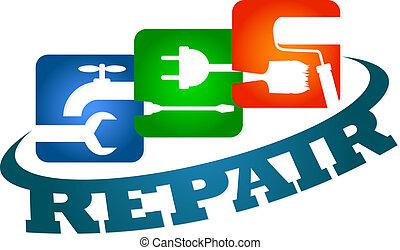 Repair service - Design repair service for business, vector