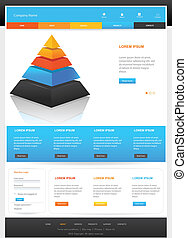 Website template design - Web Design Website Vector...