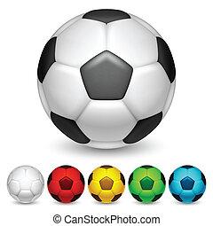 Soccer balls. - Set of color soccer balls.