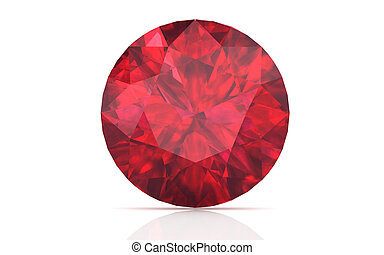 ruby ,Citrine on white background high resolution 3D image