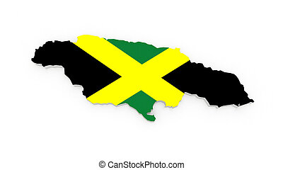 Map of Jamaica 3d