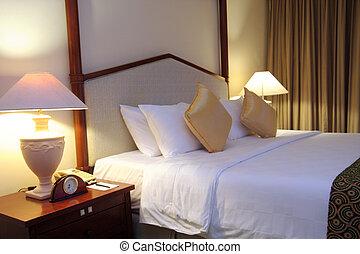 luxury bed setup